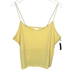 Leith Sexy Camisole Tank Top Crop Cropped Stretchy